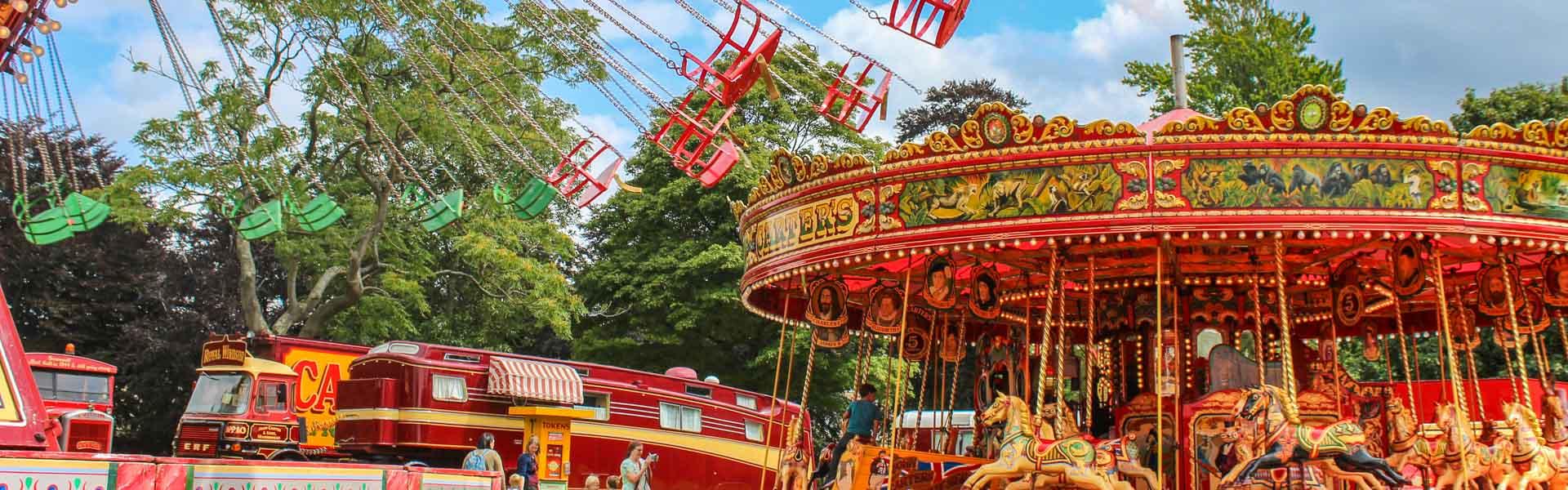 Vintage Funfair Rides Attractions Carters Steam Fair