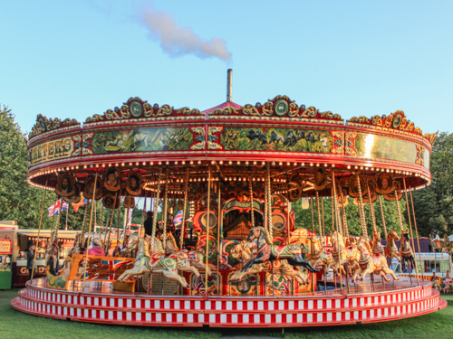 Vintage Funfair Rides Attractions Carters Steam Fair