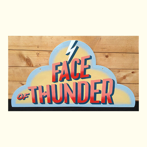 Face of Thunder sign, Carters Steam Fair